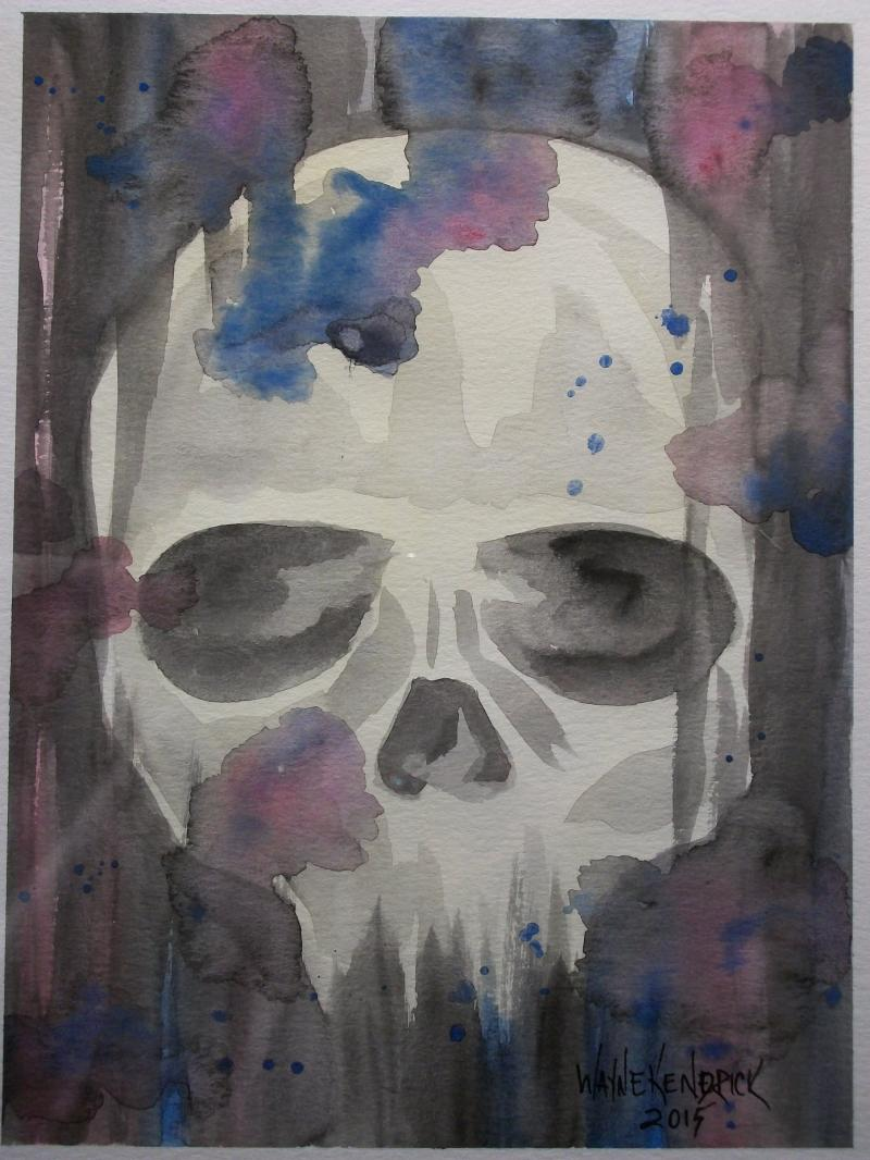 skull 2 watercolor