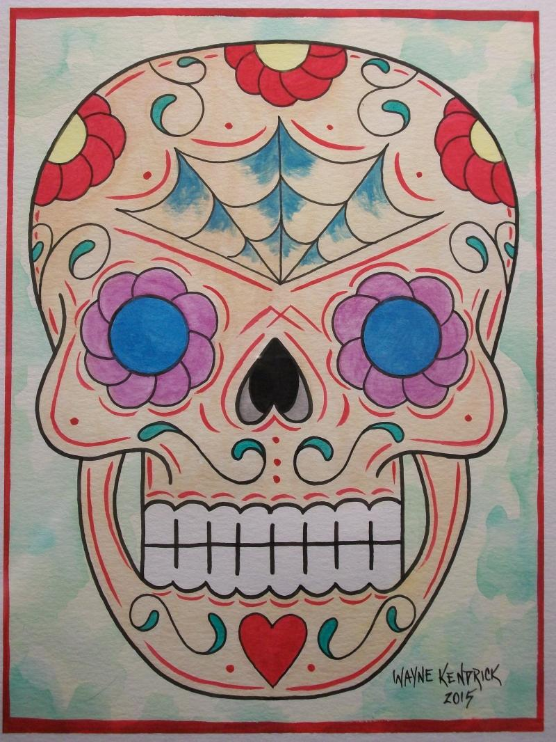 Sugar Skull Watercolor