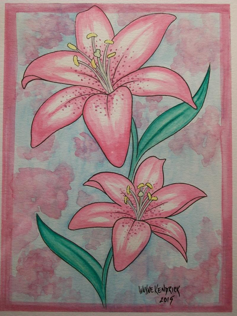 Lily watercolor
